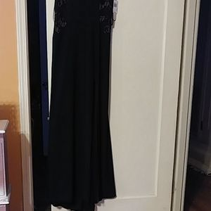 Black Cocktail Long Dress
